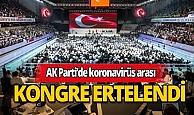 AK Parti kongresine koronavirüs arası!
