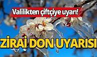 Antalya'da zirai don uyarısı