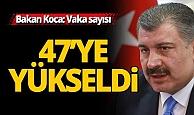 Bakan Koca: Türkiye'de korona virüsü vaka sayısı 47'ye yükseldi
