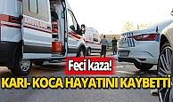 Feci kaza: Genç çift hayatını kaybetti, çocukları yaralandı