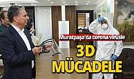Muratpaşa'da korona virüsle 3D mücadele