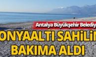 Büyükşehir, Konyaaltı sahilini bakıma aldı