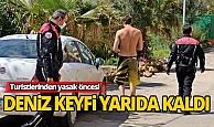 Antalya'da polisten turiste korona uyarısı