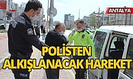 Antalya'da yaşlı adama polis yardımı