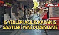 Antalya İl Hıfzıssıhha'dan işyerlerine düzenleme