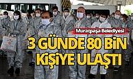 Antalya Muratpaşa Belediyesi 3 günde 80 bin kişiye ulaştı