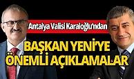 """Antalya Valisi Münir Karaloğlu imzasıyla 16 milyon turiste  """"Güneş ve Daha Fazlası"""" mektubu..."""