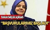 """Bakan Zehra Zümrüt Selçuk açıkladı: """"Başvurularımız başladı"""""""