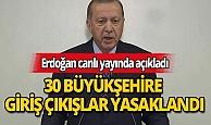 Cumhurbaşkanı Erdoğan koronavirüsle mücadele kapsamında yeni tedbirleri açıkladı