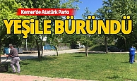 Kemer'de Atatürk Parkı Projesi devam ediyor