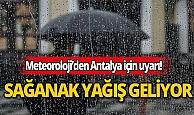 Meteoroloji'den uyarı: Sağanak yağış geliyor!