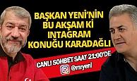 Mevlüt Yeni'nin bu akşamki instagram canlı yayın konuğu ünlü oyuncu Tamer Karadağlı