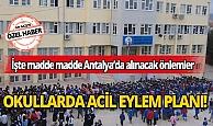 Antalya'da koronavirüs ile mücadeleye karşı okullarda acil eylem planı!