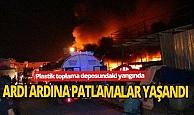 Antalya'da plastik toplama deposunda korkutan yangın