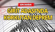 Akdeniz'de 6,4 büyüklüğünde deprem!