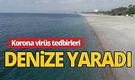 Korona tedbirleri sayesinde Antalya'nın denizi kendini yeniledi