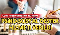 Pandemi süresinde Antalya'da 5 bin 857  psikolojik destek