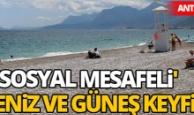 Antalya sahillerinde deniz ve güneş keyfi
