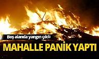 Antalya'da kuru ağaç dallarının bulunduğu alanda yangın çıktı