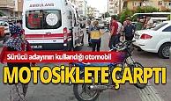 Antalya'da otomobil motosiklete çarptı