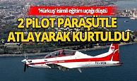 'Hürkuş' isimli eğitim uçağı Ankara'da düştü