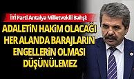 İYİ Parti Antalya Milletvekili Feridun Bahşi basın toplantısı düzenledi