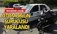 Kontrolsüz kavşakta motosiklet kazası