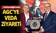 Vali Münir Karaloğlu AGC Başkanı Mevlüt Yeni ve yönetim kurulu üyelerine veda ziyaretinde bulundu