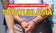 Antalya Haberi:  5 günde 36 kilo 380 gram uyuşturucu madde ele geçirilirdi