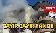 Antalya'da korkutan ev yangını