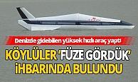 Günün komik haberi: Denizde gidebilen yüksek hızlı araç yaptı, köylüler 'füze gördük' ihbarında bulundu