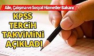 KPSS tercih takvimini açıkladı