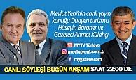 Mevlüt Yeni'nin moderatörlüğünde Yeni Bakış'ın bu akşam ki konukları duayen turizmci Hüseyin Baraner ve gazeteci Ahmet Külahçı
