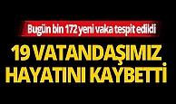 Türkiye'de son 24 saatte 19 kişi hayatını kaybetti
