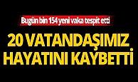 Türkiye'de son 24 saatte 20 kişi hayatını kaybetti