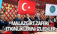 Cumhurbaşkanı Erdoğan, Ahlat'taki etkinlikleri izledi