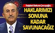 Dışişleri Bakanı Çavuşoğlu'dan Doğu Akdeniz açıklaması!