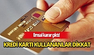 Kredi kartı aidatı için müzakere şartı getirildi