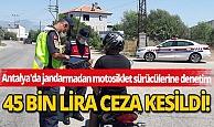 Son dakika Antalya haber: Antalya'da jandarmadan motosiklet sürücülerine denetim