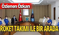 Antalya haber: Rektör Özkan, Akdeniz Roket Takımı ile birlikte