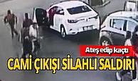 Camiden çıkan kişiye silahlı saldırı