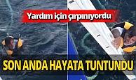 Denizde can pazarı! Kurtarılma anı kamerada
