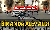 Gaziantep'te panik yaratan yangın!