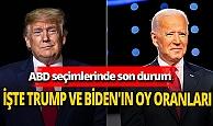 ABD seçimlerinde son durum! İşte Trump ve Biden'ın oy oranları