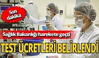 Son dakika! Kovid-19  RT-PCR test ücretleri Sağlık Bakanlığı tarafından belirlendi!