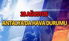 22 Ağustos 2018 Antalya hava durumu