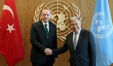 Cumhurbaşkanı Erdoğan-Guterres görüşmesi başladı
