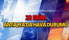 22 Ekim 2018 Antalya hava durumu
