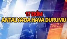 17 Ekim 2018 Antalya hava durumu