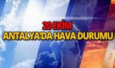 20 Ekim 2018 Antalya hava durumu